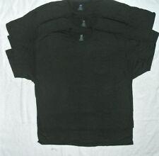 Big Mens Hanes 100% ComfortSoft Cotton POCKET Tees 3X Black Lot of 3 NEW