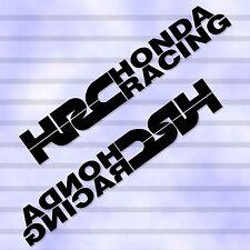 "9.5""X2P REVERSE HRC HONDA RACING TEAM RACING DECAL VINYL STICKER DIE CUT AUTO"