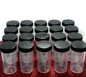 10 Plastic Pill Bottles Empty Container Vitamin Capsule Drug Medicine Holder