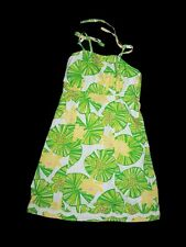 Girl Lilly Pulitzer Hip Hop Hooray Frog Green Lily Pad Summer Sun Dress Size 7