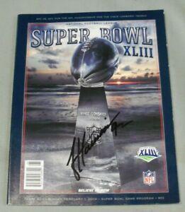James Harrison, Pgh Steelers, Signed Super Bowl XLIII Program, Full Name