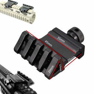 2 PC 45 Degree Offset Picatinny /Weaver Rail Mount,1 pc 45 Degree Offset w/laser