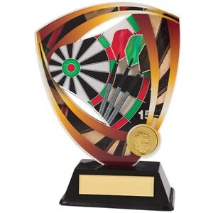 Fortress Darts Trophy Award Trophies Acrylic Plaque 175mm FREE Engraving