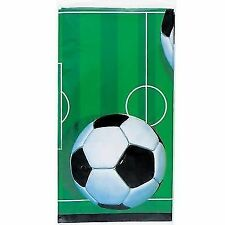 Football Plastic Tablecloth 7ft X 4.5ft 011179273034