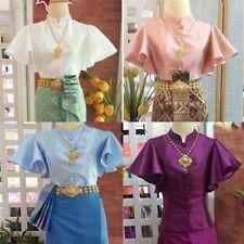 Traditional Gorgeous Thai Costume Shirt Wedding Dress Sarong Wrap Temple Party