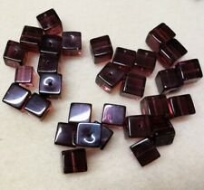 64gms - 30 Pieces - Crystal Glass 10mm Cubed Beads in Gorgeous Clear Amethyst