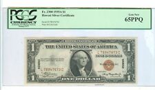 1935-A ONE DOLLAR HAWAII SILVER CERTIFICATE PMG-65 PPQ GEM NEW