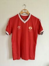 Retro MANCHESTER UNITED 1983/84 Home Football Shirt (S) Man Vintage Adidas Top