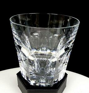 """BACCARAT SIGNED FRANCE CUT CRYSTAL HARCOURT 4 1/4"""" DOUBLE OLD FASHIONED"""