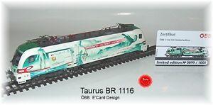 "RailAd 1036 AC E-Lok Taurus Siemens 1116 130 ""e-card""  Wechselstromversion #NEU#"