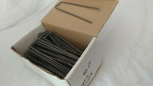 6 inch Landscape Sod Staples. Box of 92 Sturdy Stakes Weed Barrier Fabric Pins