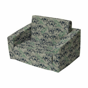 Kids Sofa Day Bed Portable Flip Out Couch Toddler Flipout dinosaur Dino Marle F1