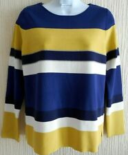 Laura Ashley Striped Jumper  - Mimosa /Navy- size-8 (more like a 10-12 )