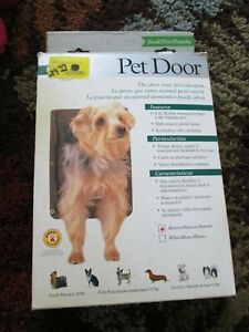 New in Opened Box PETSAFE SMALL PET DOOR - BROWN - TS-2-11 - UP TO 12 LBS ~
