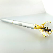Ballpoint PEN with Diamond Crystal Head Silver and Gold High Quality Metal