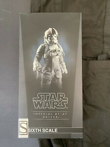 Sideshow Hot Toys Collectibles At-at Driver Exclusive 1/6 Figure EMPTY BOX Only