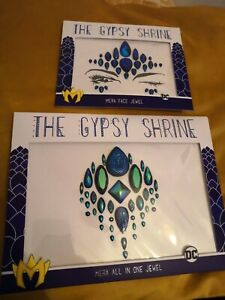 Gypsy Shrine Set of 1 Body & Face Jewel Gems DC Mera Mermaid Festival Comic con