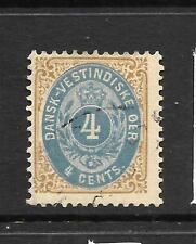 Danish West Indies 1873-02 4c Pale Blue/Yellow Brown Fu Sg 18