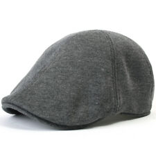bfe9c4cb11d ililily Soft Cotton Newsboy Flat Cap Pre-curved Ivy Stretch-fit Driver  Hunting