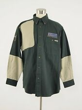 New WOOLRICH 6091 Cotton Forest Green/Khaki Hunting Shooting Shirt Large L