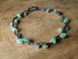 Jade anklets,Stone anklets,Green anklets,Handmade anklets,Women anklets