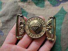 Wwi British Army Hallamshire Rifles Infantry Belt Buckle