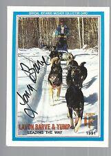 1991 Official Iditarod Lavon Barve Card Autographed