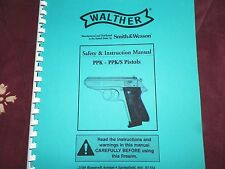 WALTHER  PPK - PPK/S   PISTOL,  Instruction Manual,    36 Pages