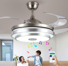 """36""""/42"""" Bluetooth Invisible Fan LED Ceiling Light Music Player Chandelier+remote"""