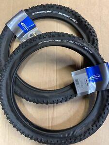 Pair Schwalbe 16 X 1.90 inch Black Jack Tyres