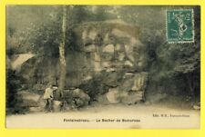 Carte Postale Ancienne Toilée FONTAINEBLEAU Le Rocher de NEMOROSA Paul JUNGERS