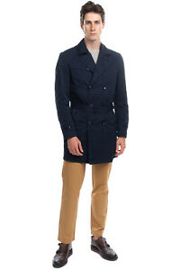 DOUBLE EIGHT Trench Coat Size L Belted Double-Breasted Notch Lapel Collar