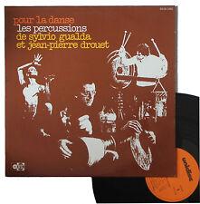 """Vinyle 33T Sylvio Gualda et Jean-Pierre Drouet """"Pour la danse : les percussions"""""""
