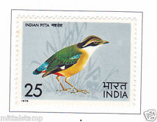 PHILA638 INDIA 1975 SINGLE MINT STAMP OF INDIAN BIRDS 25p INDIAN PITTA MNH