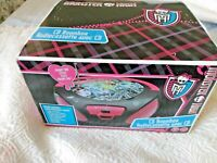 Monster High Brand New Pink And Black CD Boombox AM / FM Radio Vivitar Built In