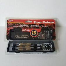 Viper Brass Deluxe Soft Tip Dart Set 16 Grams Nylon Shafts Tips Wrench Hard Case