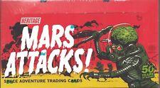 Topps Heritage MARS ATTACKS 50th 55 Card 1962 Reprint Set + 25 Chase Box Poster