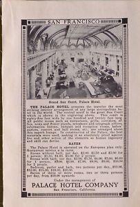 1914 JAPAN JAPANESE TOURIST ADVERT SAN FRANCISCO GRAND SUN COURT PALACE HOTEL