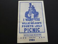 Willie Nelson 1984 4th of July Picnic 5.5x8.5 Concert Dinner Invitation 1 of 500