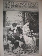 More details for montserrat lime fruit juice cordial old art advert 1885