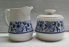 Noritake Progression China Blue Moon Creamer & Sugar Set Vintage