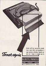 OLIVETTI PORTATILE DESIGN  TENER COPIA ELEGANZA IVREA MACCHINA DA SCRIVERE 1937