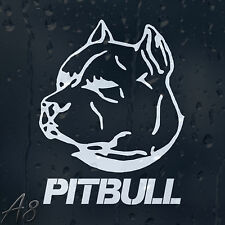 Pit Bull Dog On Board Car Or Laptop Decal Vinyl Sticker For Window Bumper Panel