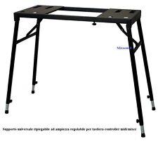 SUPPORTO STAND REGOLABILE PROFESSIONALE x TASTIERA stage PIANO MIXER CONSOLLE DJ