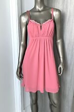 Oscar de la Renta Pink Label Womens Pink Chemise Nightgown Size XS