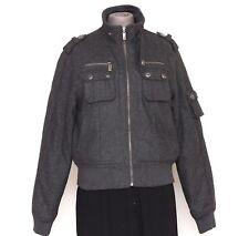 Women's Winter Wool Blend Jacket M Medium Gray Insulated MAXIM STUDIO