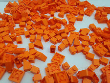 LEGO - 100 ORANGE Pieces Bits Cone, Plate, Pins - FREE Brick Seperator