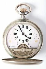 ANTIQUE HEBDOMAS SWISS 8 JOURS SILVER POCKET WATCH