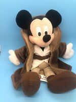 """Star Wars OBI WAN Mickey Mouse 12"""" Plush Jedi NO Lightsaber Disney Theme Parks"""