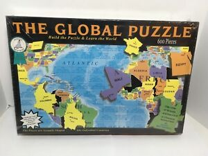 THE GLOBAL PUZZLE 600 Piece Jigsaw Puzzle Individual Country Shaped Pieces NEW